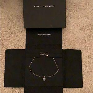 David Yurman Albion Blue Topaz & Diamonds w chain